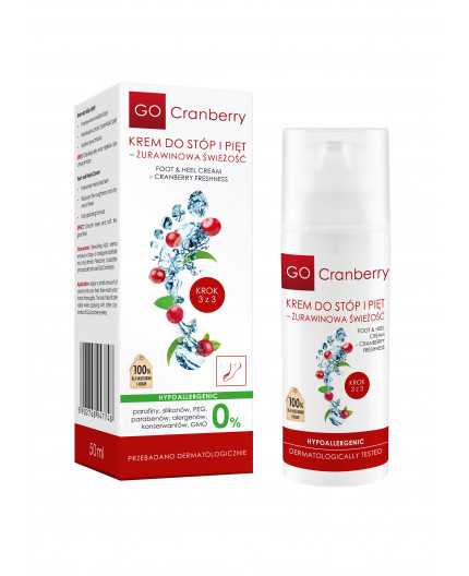Foot  & Heel Cream - Cranberry freshness GoCranberry 50 ml