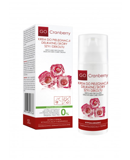 Neck and Decollette Delicate Skin Care Cream GoCranberry 50 ml